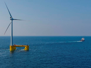 Photograph of an offshore wind turbine